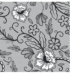 lace seamless pattern vintage lace decorative vector image