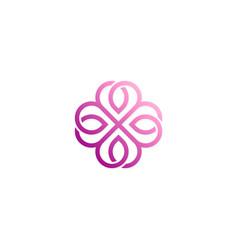 love line geometry logo vector image