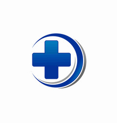 medical cross symbol logo vector image
