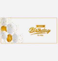 Minimalism golden and white birthday background vector