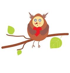 Owl in love funny design vector image
