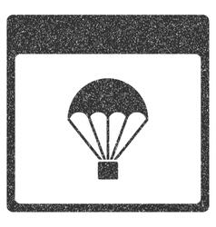 Parachute Calendar Page Grainy Texture Icon vector