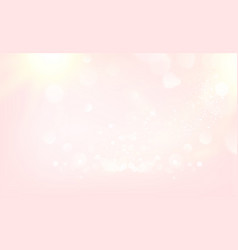 pink blurred bokeh for holiday glowing background vector image