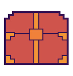 Pixelated video game treasure chest fortune vector