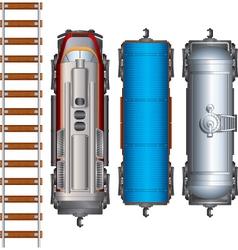 Railroad Cargo Train vector image