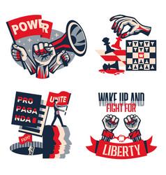 Revolution propaganda concept vector