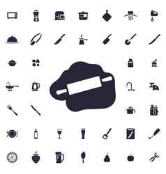 Rolling pin icon vector