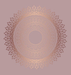 Rose gold mandala background vector