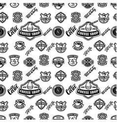seamless pattern with coffee design elements for vector image