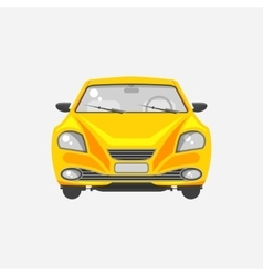 Sedan car front view vector