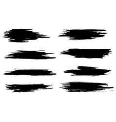 set of black hand made blots and ink splashes vector image
