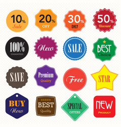 Set of business vintage badges and labels vector image