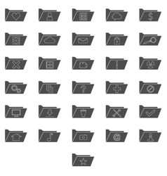 Set of computer folders vector image