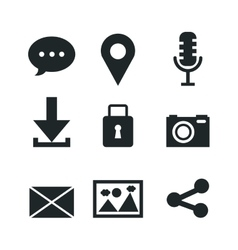 Set of social media icons isolated icon design vector