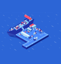 Shipment delivery isometric vector
