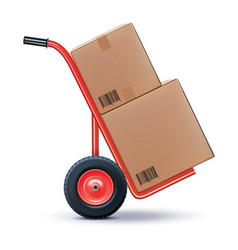 Shipping cart isolated on white 3d vector