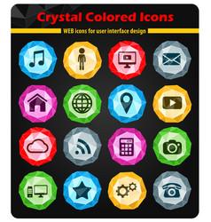 Social media simply icons vector