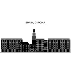 spain girona architecture city skyline vector image