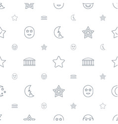 Star icons pattern seamless white background vector