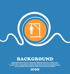 Suicide concept icon sign Blue and white abstract vector