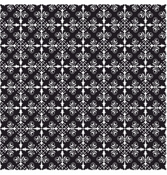 tile black and white background or pattern vector image