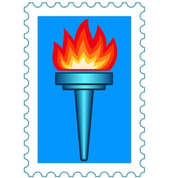 Torch stamp vector