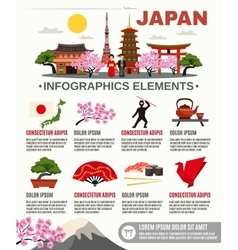 Traditional Japan Culture Flat Infographic vector image