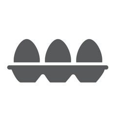 tray with eggs glyph icon food and nutrition vector image