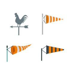 Vane icon set flat style vector