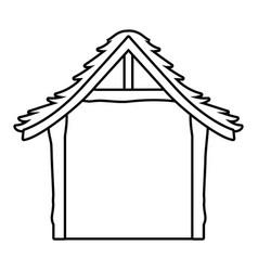 Wooden stable cartoon vector