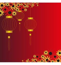 Chinese lantern background vector image