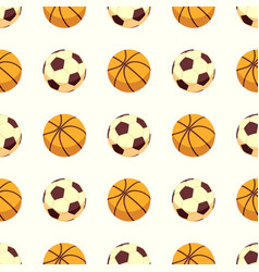 sport seamless pattern - soccer or football and vector image