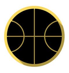 basketball ball sign flat vector image vector image