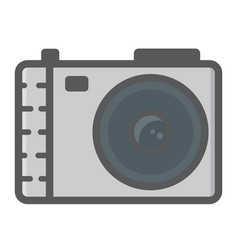 camera colorful line icon photo and capture vector image