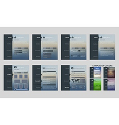 Design template interface vector image