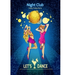 Disco party poster vector image