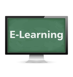 E-Learning vector image vector image