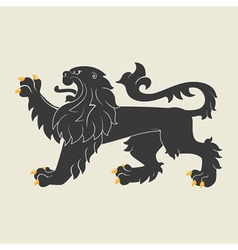Heraldic lion35 vector image vector image
