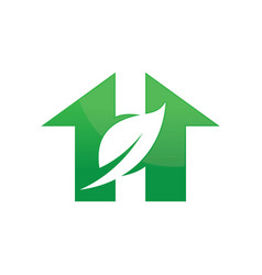 house ecology environment logo image vector image
