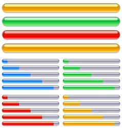indicator of progress vector image vector image