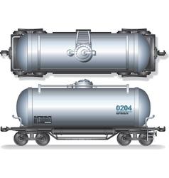 Train Oil Tanks vector image