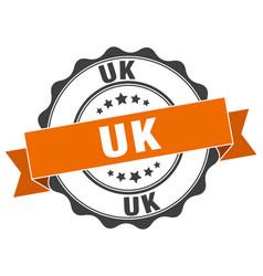 uk round ribbon seal vector image