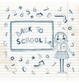 Back to school Schoolgirl at the blackboard vector image