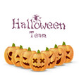 halloween pumpkins team party poster isolated vector image