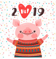 2019 happy new year card design symbol the vector image vector image