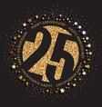 25th birthday logo vector image