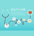 abstract medical icon with stethoscope medical vector image vector image
