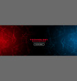 abstract technology background with red and blue vector image vector image