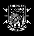 american football skull with helmet vector image vector image