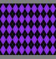 argyle plaid in proton purple colors vector image